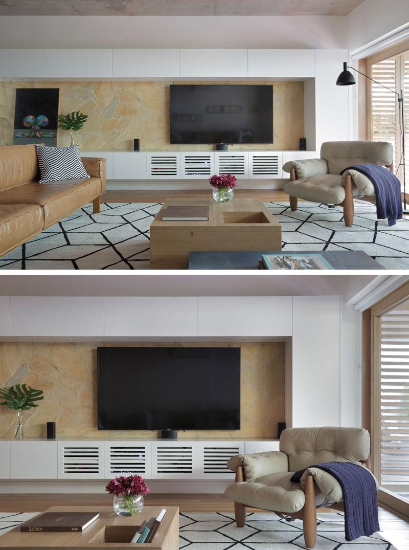 Apartment's Interior Design Featuring Wood Accents 4