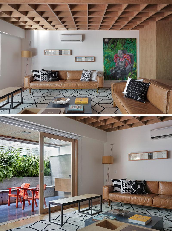 Apartment's Interior Design Featuring Wood Accents