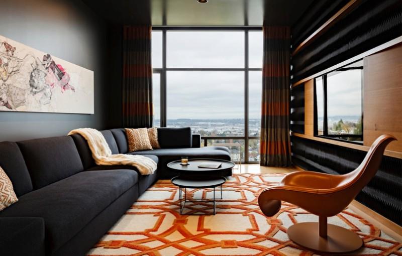 Area Rug featuring with Orange