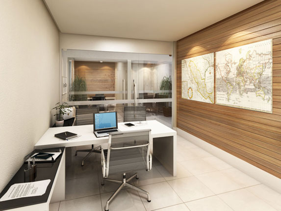 Home Office Models In Decorated Houses (2)