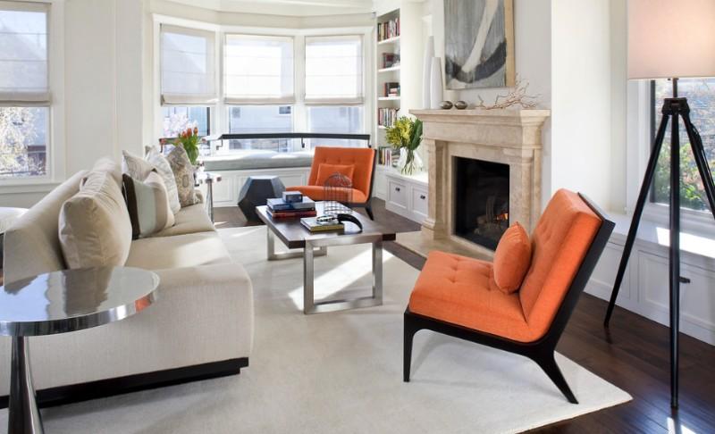 accent furniture with orange 1