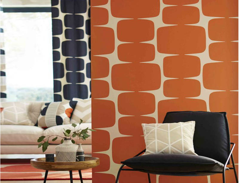 enhance with orange wallpaper