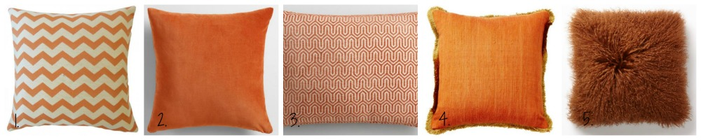 orange home accents with Pillows