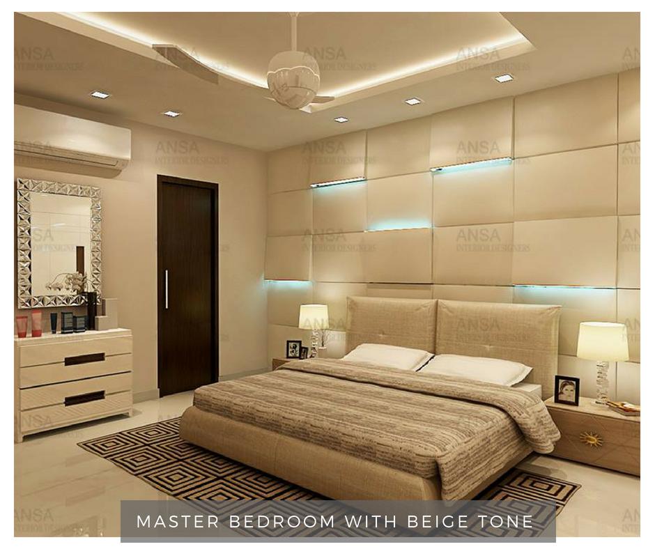 master bedroom with beige tone